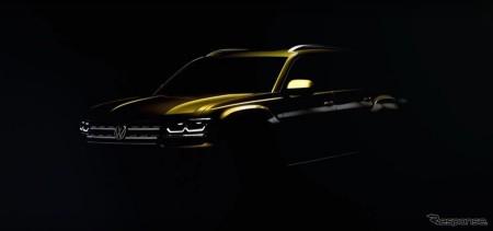VW 新型ミッドサイズSUVのシルエット