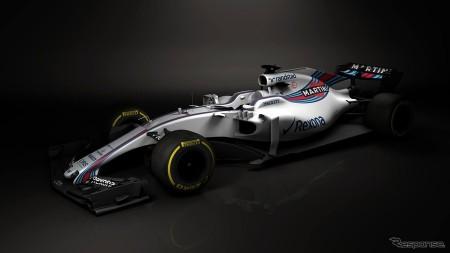 F1ウィリアムズが17年型マシン画像公開
