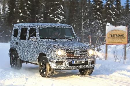 600馬力のAMG G63 豪雪テストに遭遇