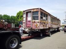 川口市の京急デハ236が陸送準備完了