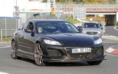 マツダの新型ロータリースポーツ開発車両を目撃